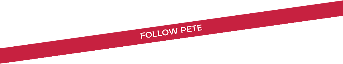 Follow Pete Banner